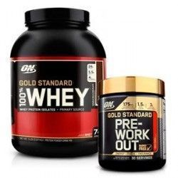 Pack OPTIMUN NUTRITION Whey Gold + Pre-workout 8 servicios