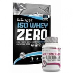 Pack BioTechUSA Iso Whey Zero 500 gr + Multivitamin for Women 60 tabs
