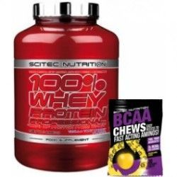 100% Whey Protein Professional 2350grs + BCAA Chews - Masticables 30 tabs