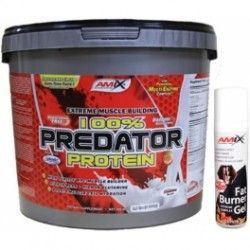 PACK AMIX Predator Protein 4 Kg + FAT BURNER GEL 75ML