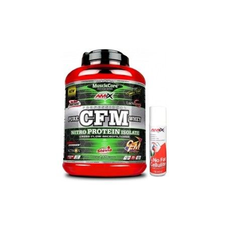 PACK AMIX MUSCLECORE CFM Nitro Whey Whith Actinos 2000gr + NO FAT & CELLULITE 75ML