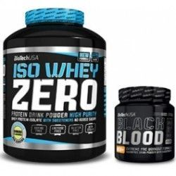 PACK BIOTECH USA Iso Whey Zero 2.27 Kg + Black Blood NOX+ 330 grS