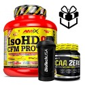 pack AMIX PRO ISO HD 90 CFM PROTEIN 1800GRS + bcaa zero + shaker