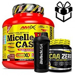 pack AMIX Micelle HD Casein 1600grs +bcaa zero+shaker
