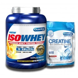 PACK QUAMTRAX ISOWHEY 2267 grs + CREATINA 150 grs
