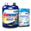PACK QUAMTRAX ISOWHEY 2267 grs + CREATINA 500 grs