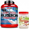 Pack Amix Whey Pure Fusion 2,3 kg + Stevia Mr Poppers 500 gr