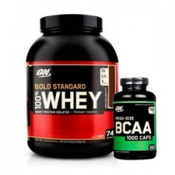 PACK OPTIMUN NUTRITION 100% Whey Gold Standard 5 lbs + bcaa 100