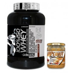 PACK BEVERLY NUTRITION 100% IsoWhey 2 Kg + CREMA DE CACAHUETE