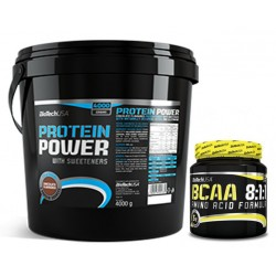PACK BioTech USA Protein Power 4 KG + BCAA 8.1.1. 300 G
