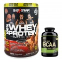 Pack Six Star Pro Nutrition Elite Series 100% Whey Protein Powder 907 g + BCAA 1000 200 caps