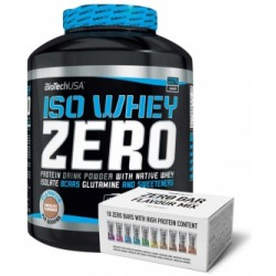 Pack Biotech USA IsoWhey Zero 2,27 Kg + Zero Bar Flavour Mix-Box 10 barritas x 50 g