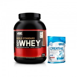 PACK OPTIMUN NUTRITION 100% Whey Gold Standard 5 lbs + Creatine 500grs